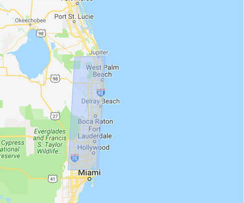 Florida area map
